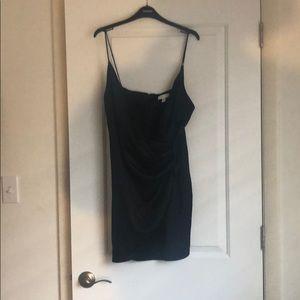 Black TOPSHOP slip dress.